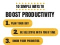 10 Simple Ways To Boost Productivity