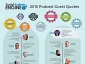 2015 Social Business Engine Podcast Guest Quotes [Infographic]