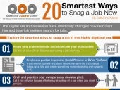Infographic: 20 Smartest Ways to Snag a Job Now