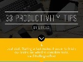 33 Productivity Tips, in 140 Charac...