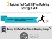 3 Decisions That Could Kill Your Marketing Strategy in 2016 [Infographic]