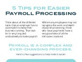 5 Tips For Easier Payroll Processing
