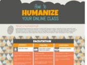 How to Humanize Your Online Class - Infographic