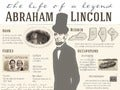 Abraham Lincoln Life Facts & Family Tree Infographic