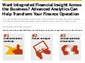 Advanced Analytics Can Help Transform Your Finance Operation Infographic