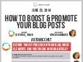 How To Boost & Promote Your Blog Posts