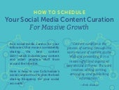 How To Schedule Your Social Media Content Curation For Massive Growth: Infographic
