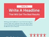 33 Easy Ways To Write A Headline That Will Make You Successful