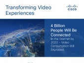 Cisco Infinite Video Infographic