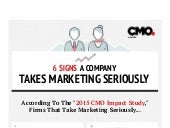 6 Signs A Company Takes Marketing Seriously