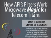 How API's Filters Work Microwave Magic for Telecom Titans