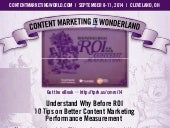 Content Marketing ROI Infographic