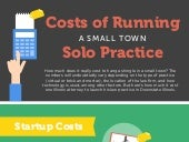 Costs Of Running A Small Town Solo Practice