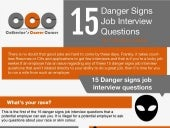 Danger Sign Job Interview Questions (Infographic)