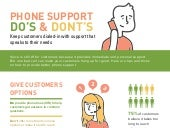 Do's and Dont's of Phone Support - Zendesk infographic
