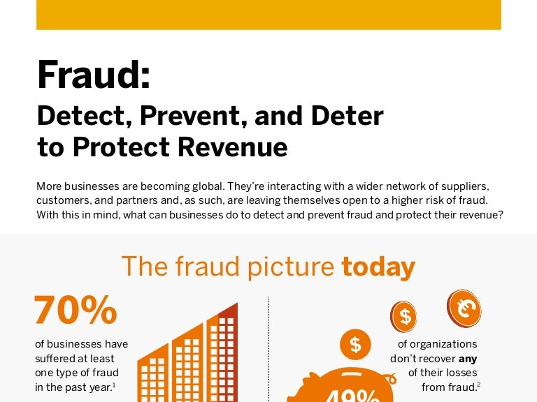 Fraud: Detect, Prevent, and Deter to Protect Revenue Infographic