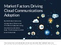 Infographic: Top Business Reasons Why Companies Adopt Cloud Communications
