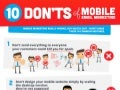 10 Donts Of Mobile Email Marketing - Getresponse Infographic