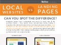 Infographic: Local Websites vs Landing Pages