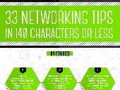 33 Networking Tips, in 140 characters or less