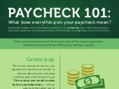 Paycheck 101: What does everything mean?