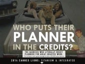 WHO PUTS THEIR PLANNER IN THE CREDITS? [INFOGRAPHIC]