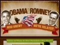 Mitt Romney & Barack Obama Genealogy Infographic