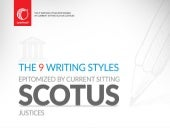 9 Writing Styles Epitomized by the SCOTUS Justices