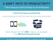 A Swift Path to Productivity