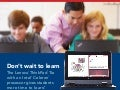 Lenovo ThinkPad 11e + Intel Celeron processor = more time to learn - Infographic