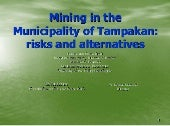 Mining in the Municipality of Tampa...