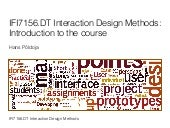 IFI7156.DT Interaction Design Methods: Introduction to the course