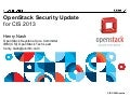CIS13: OpenStack API Security