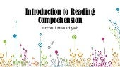 Introduction to Reading Comprehension
