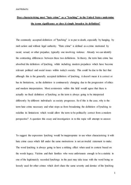 Race discrimination essay