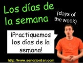Días de la semana (Days of the Week)