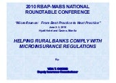 Helping Rural banks Comply with Mic...