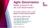 Agile governance: reality or dream in the US & UK Governments? webinar on Thursday 11th September