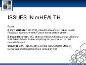 Issues in Mobile Health (Robyn Whit...