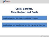 Coste, Benefits and Time Horizon for SEO and Link Building