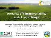 Overview of climate variability and...