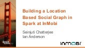 Building a Location Based Social Graph in Spark at InMobi-(Seinjuti Chatterjee and Ian Anderson, InMobi)