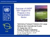 Overview of UNDP GEF Support for P...