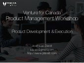 Product Development and Execution for Startups