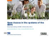 Open Access in the systems of the SNSF