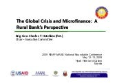 The Global Crisis and Microfinance:...