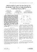 Multivariable Control System Design for Quadruple Tank Process using Quantitative Feedback Theory (QFT)