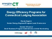 Energize CT: Energy Efficiency Program for the Connecticut Lodging Association