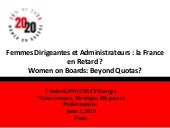 Women on board: France beyond quotas? Practice 3 – Micro Level - 2020 Women on Boards