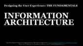04 Fundamentals of UX Workshop:  Information Architecture
